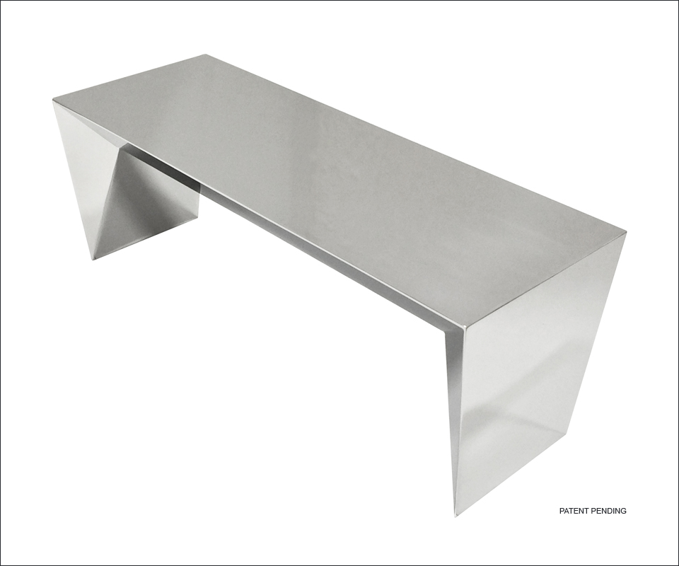 Nolen Niu Inc Mirage Stainless Steel Bench 2014 Modern Furniture Contract Furniture