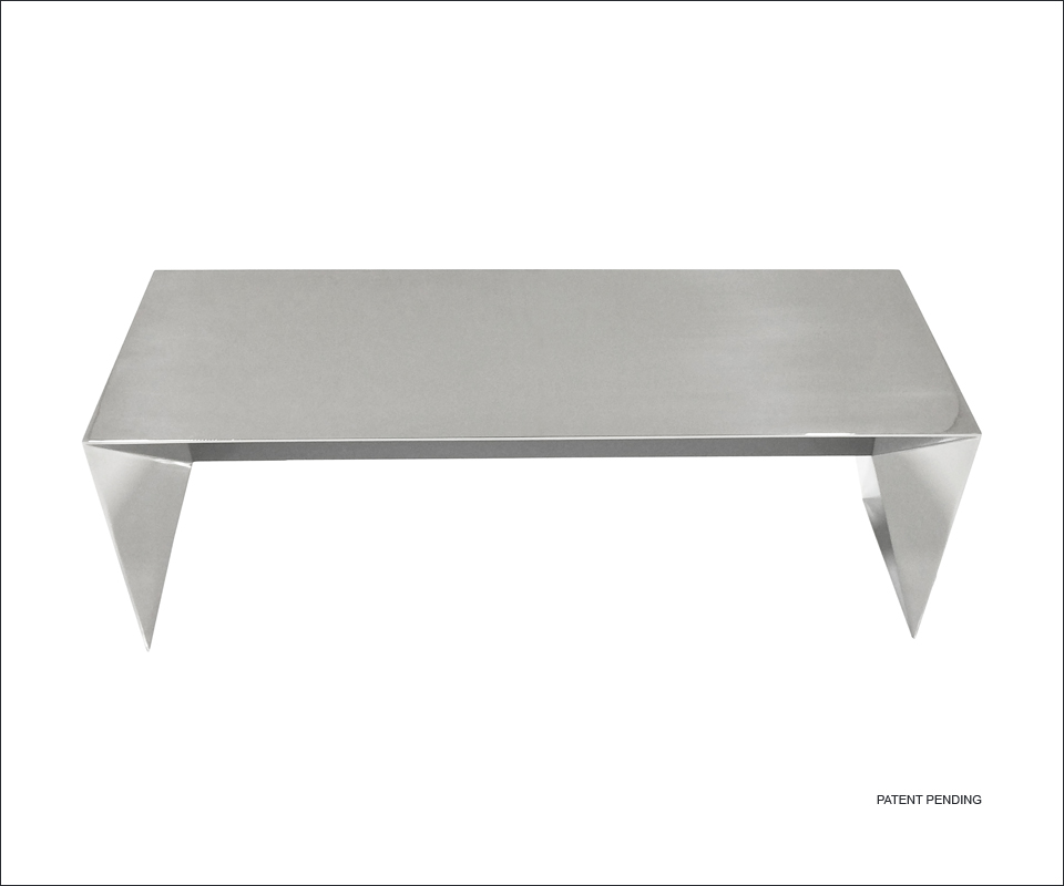 Nolen Niu Inc Mirage Stainless Steel Bench C Modern